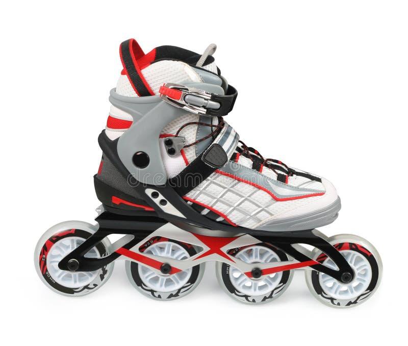 Inline skates. Isolated over white royalty free stock image