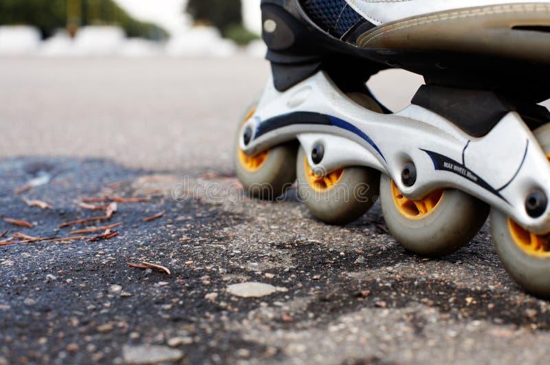 Inline skates. Closeup of inline skates. shallow DOF royalty free stock images