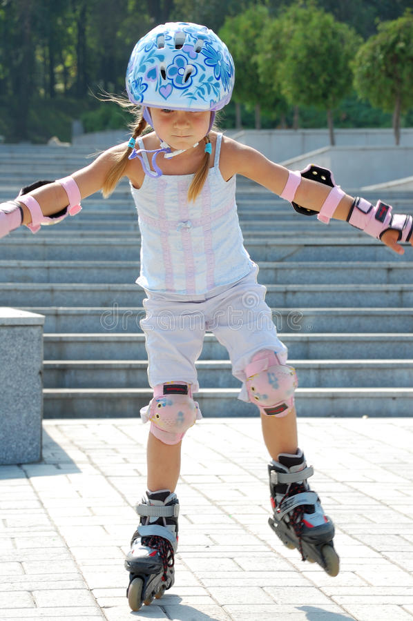 Inline Skating Sporty Childhood Royalty Free Stock Images