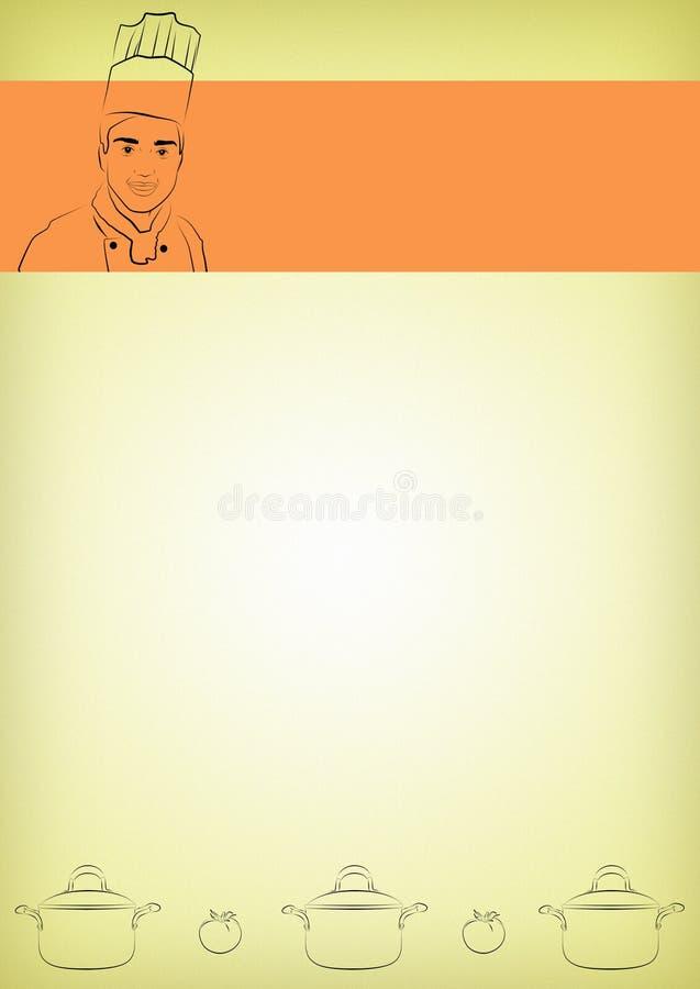 Inmóvil culinario ilustración del vector