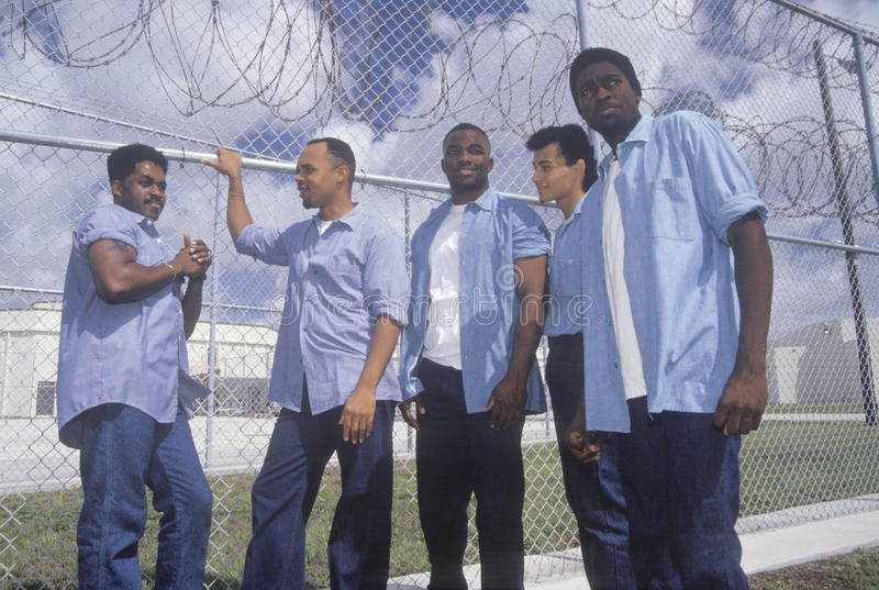 Inmates from Dade County Men's Correctional. Facility, Florida royalty free stock images