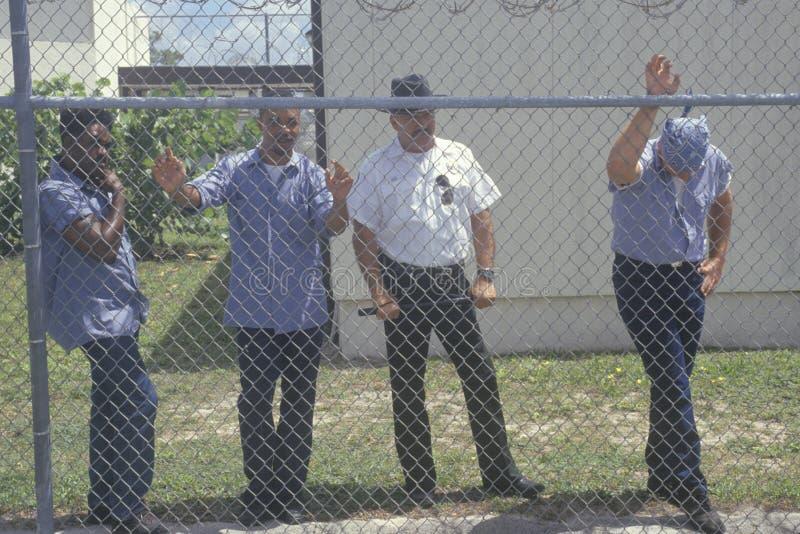 Inmates from Dade County Men's Correctional. Facility, Florida royalty free stock photo