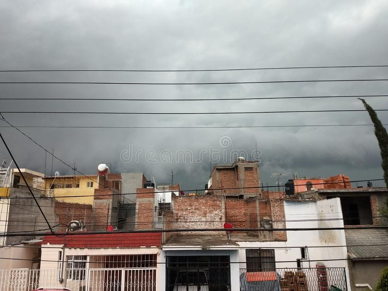 Big Storms. Hause, mexico, rain royalty free stock photography