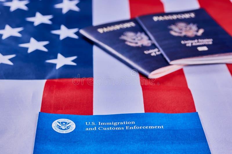 Inmigraci?n y aplicaci?n de las aduanas imagen de archivo libre de regalías