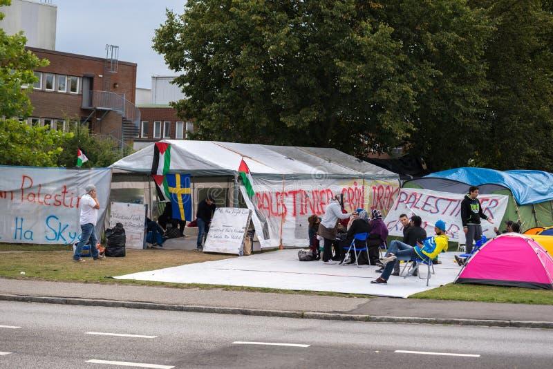 Inmigrantes de Gaza - Suecia 2015 imagen de archivo libre de regalías