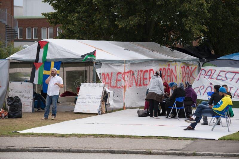 Inmigrantes de Gaza - Suecia 2015 imágenes de archivo libres de regalías