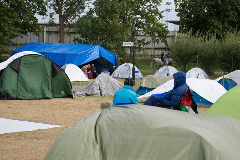 Inmigrantes de Gaza - Suecia 2015 imagenes de archivo