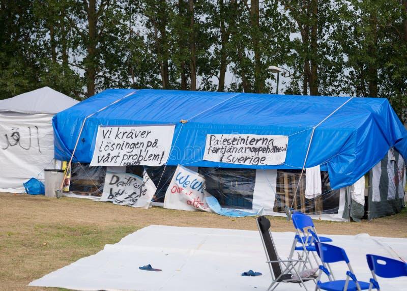 Inmigrantes de Gaza - Suecia 2015 imagen de archivo