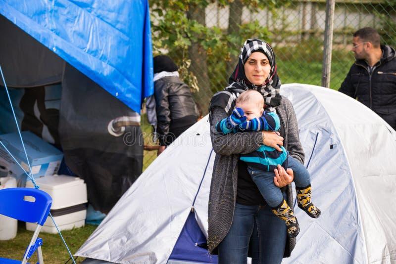 Inmigrantes de Gaza - Suecia 2015 fotos de archivo