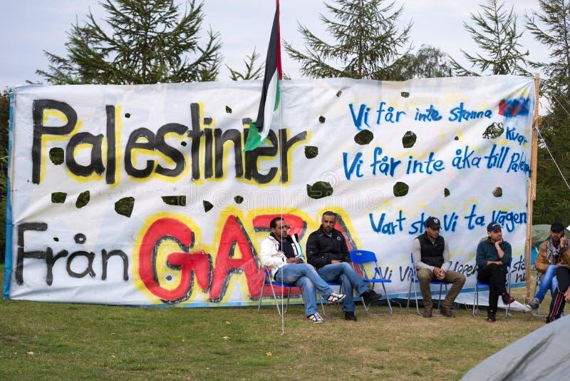 Inmigrantes de Gaza - Suecia 2015 foto de archivo libre de regalías