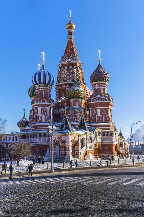 InMoscow della cattedrale del basilico s della st, Russia fotografia stock