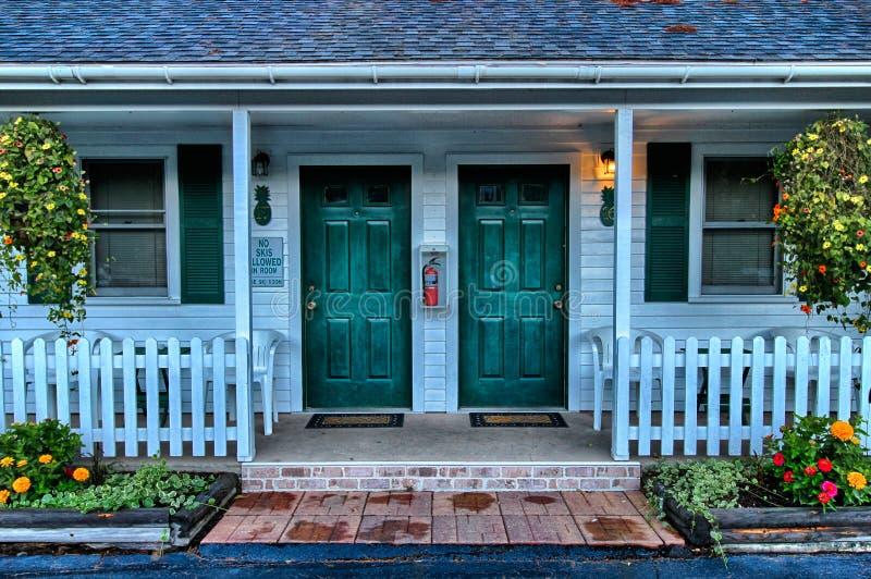 Inn doors stock photography