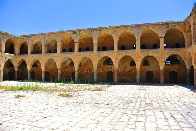 The inn Khan Al-Umdan. Built during the reign of the Ottoman Empire. Akko. Israel royalty free stock images