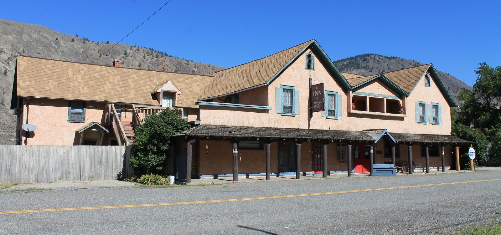 The Inn at Spences Bridge BC. The Inn at Spences Bridge is located on a quiet back country road that runs parallel to the Thompson River. Traditionally used by stock images