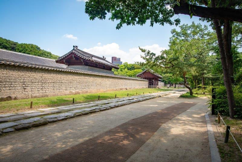 Inna brama drugi świątynia, Jongmyo świątynia, Seul obrazy stock
