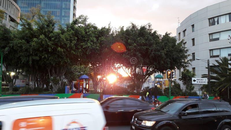 Inna Meksyk ulica przy świtem zdjęcie stock