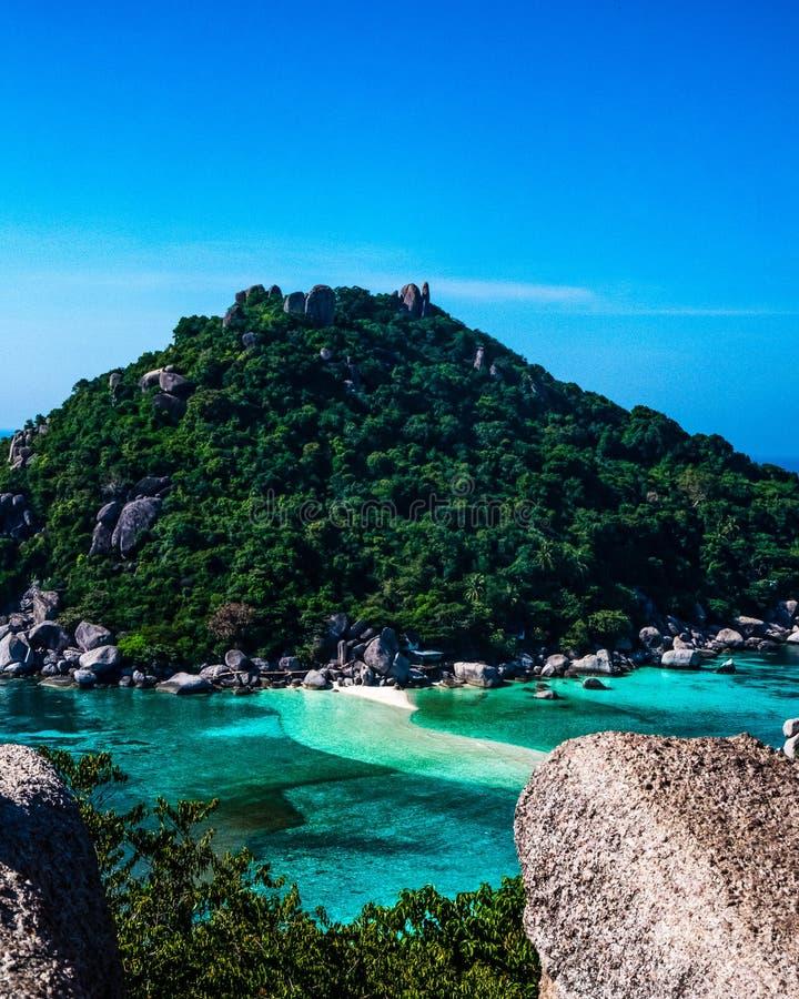 Inna perspektywa od Koh Nanguyang widoku punktu fotografia royalty free