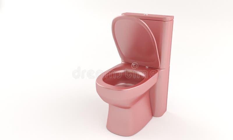 Innaffi il gabinetto rosso sul bianco, 3d illustrazione vettoriale