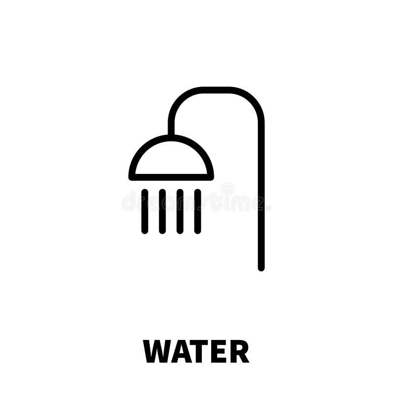 Innaffi l'icona o il logo nella linea stile moderna royalty illustrazione gratis