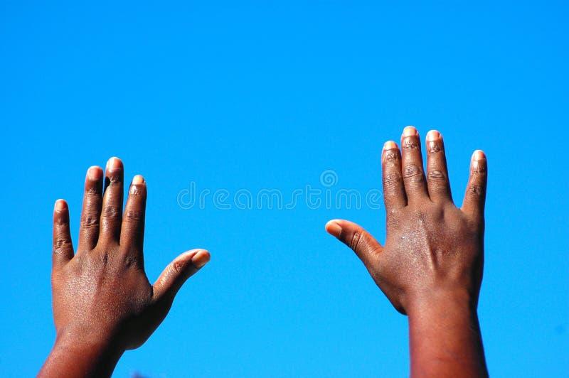 Innalzamento delle mani immagini stock libere da diritti
