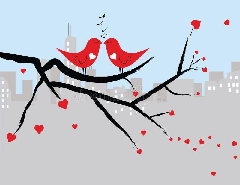 Innamorati del biglietto di S. Valentino fotografia stock