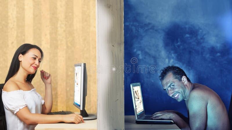 Innamori online immagine stock libera da diritti