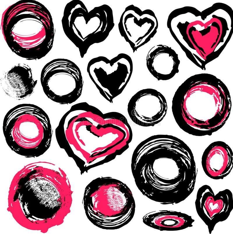 inne przedmioty grunge serca ilustracja wektor