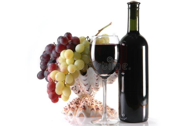 inne szklane winogrona whie wino obraz stock