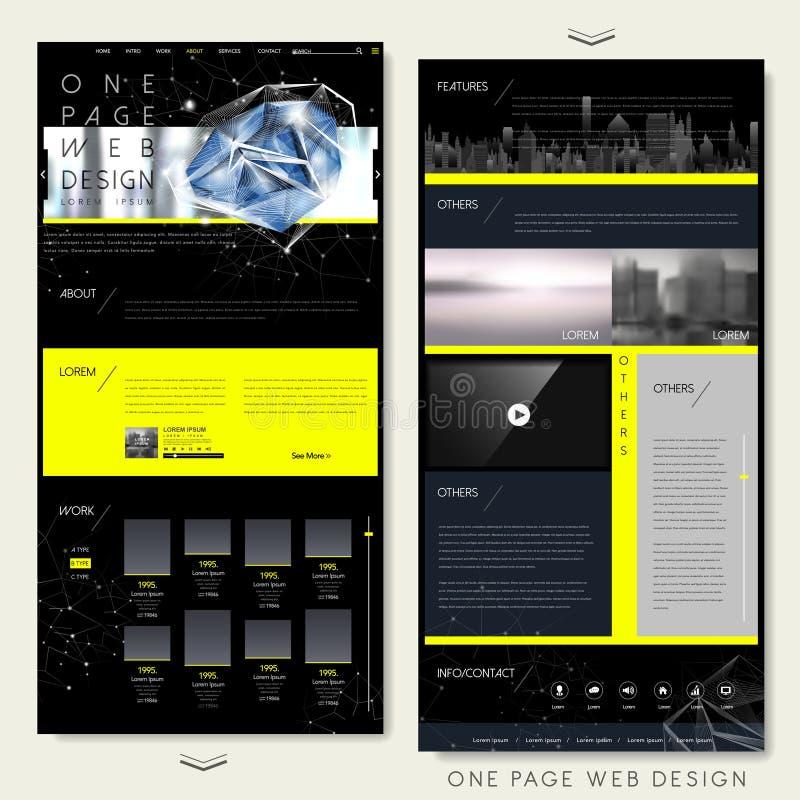Innegrej en mall för sidawebsitedesign vektor illustrationer