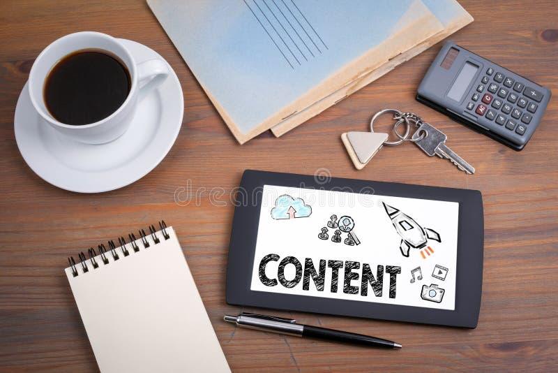 Innehåll, marknadsföring och blogging concep royaltyfria bilder