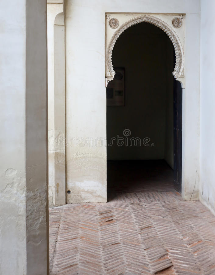 Innen-Alcazaba-Festung lizenzfreies stockbild