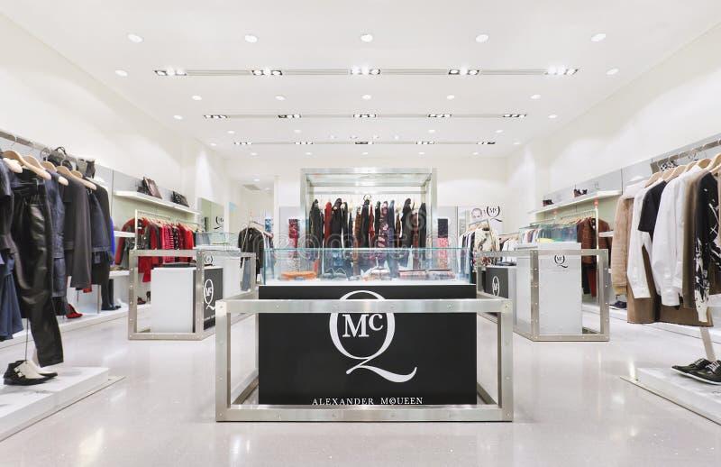 Innen-Alexander McQueen-Modeausgang, Peking, China lizenzfreie stockfotos