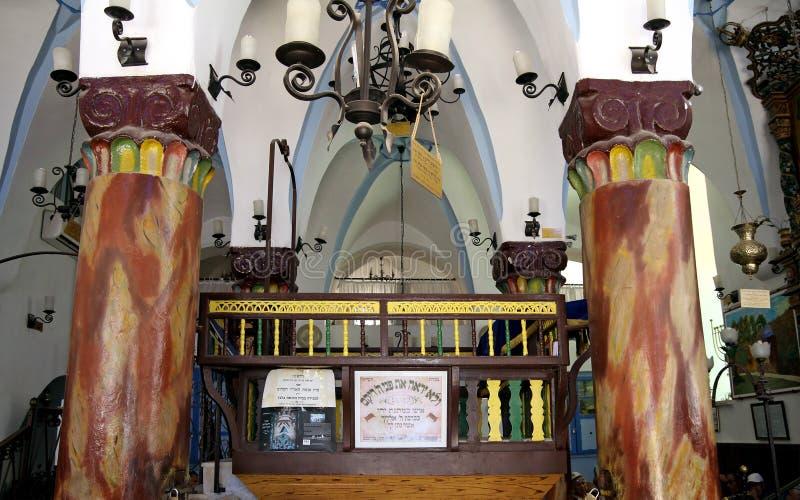 Innen-Ari Ashkenazi-Synagoge in Safed stockfotos