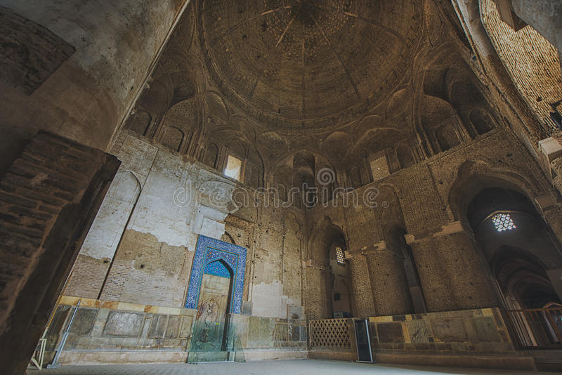 Innen-Moschee Jameh Freitag isfahan iran lizenzfreies stockfoto