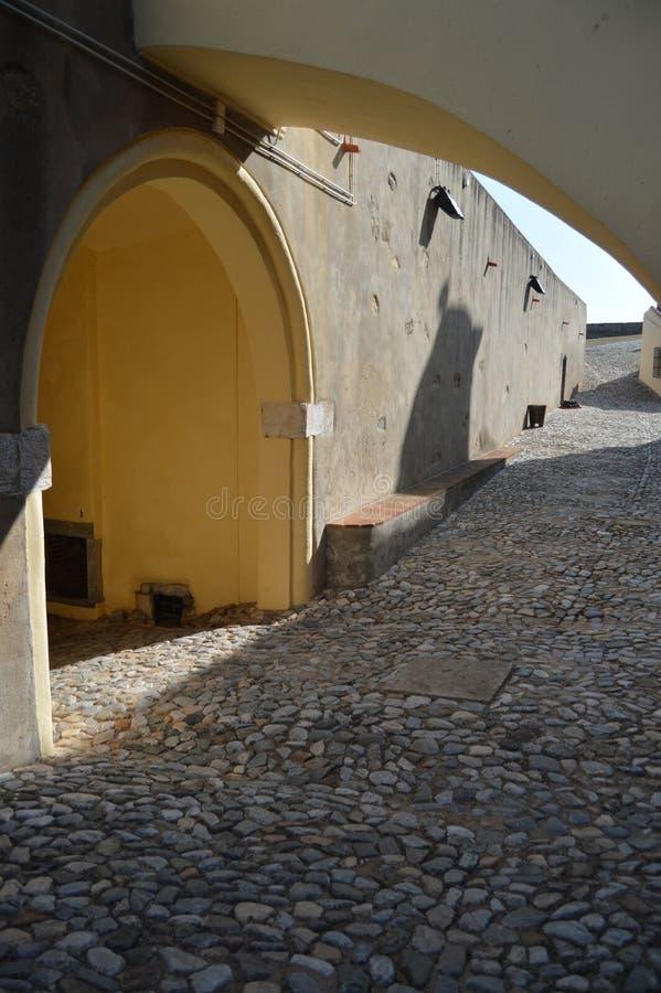 Innen vom Fort unserer Dame Of Grace In Elvas Natur, Architektur, Geschichte, Straßen-Fotografie 11. April 2014 Elvas, lizenzfreie stockfotografie