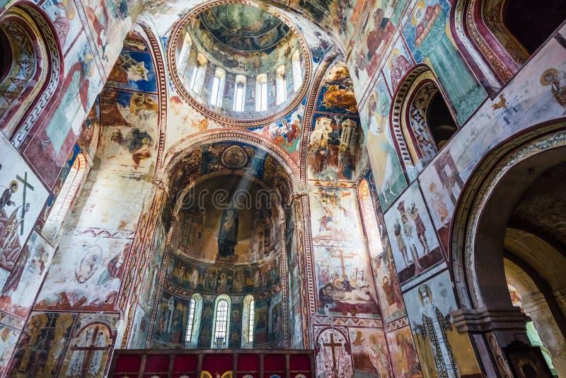 Innenansicht auf Gelati-Kloster der Jungfrau, Kutaisi, Georgia lizenzfreies stockfoto