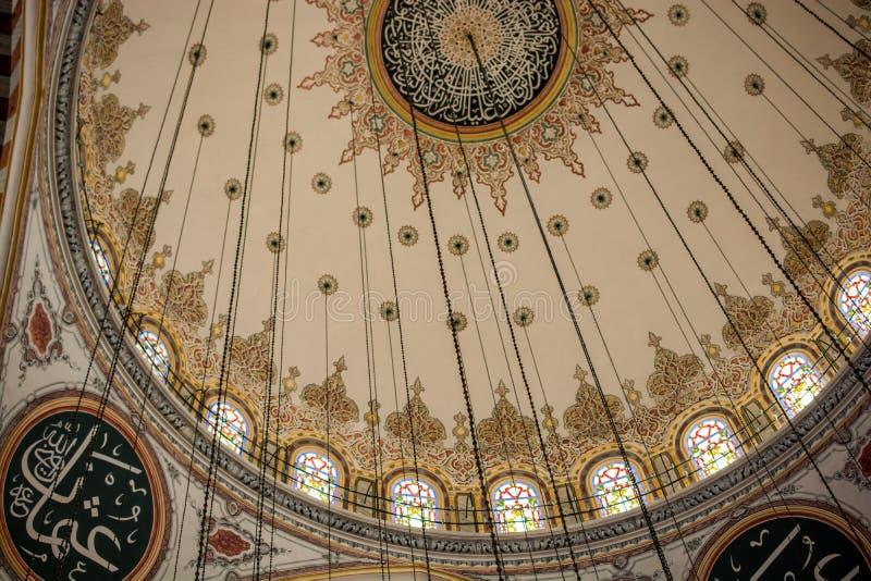 Innenansicht der Haube in der Osmanearchitektur stockfoto