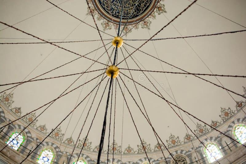Innenansicht der Haube in der Osmanearchitektur stockbilder