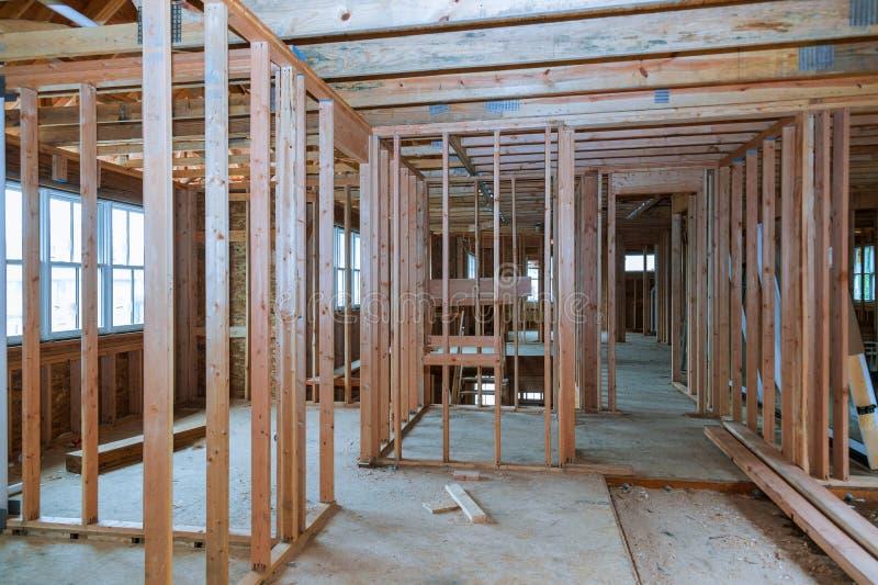 Innenansicht eines Hauses im Bau lizenzfreies stockbild