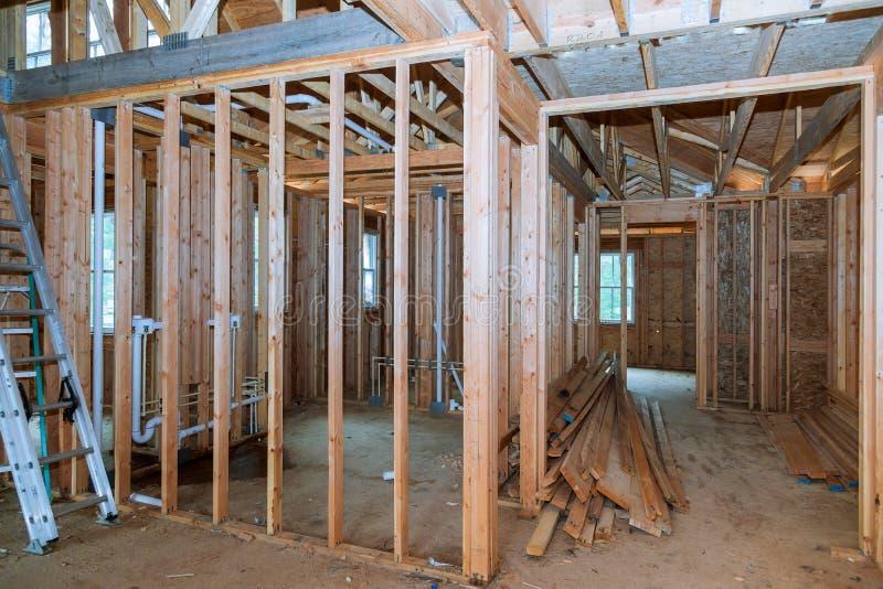 Innenansicht eines Hauses im Bau lizenzfreie stockfotos