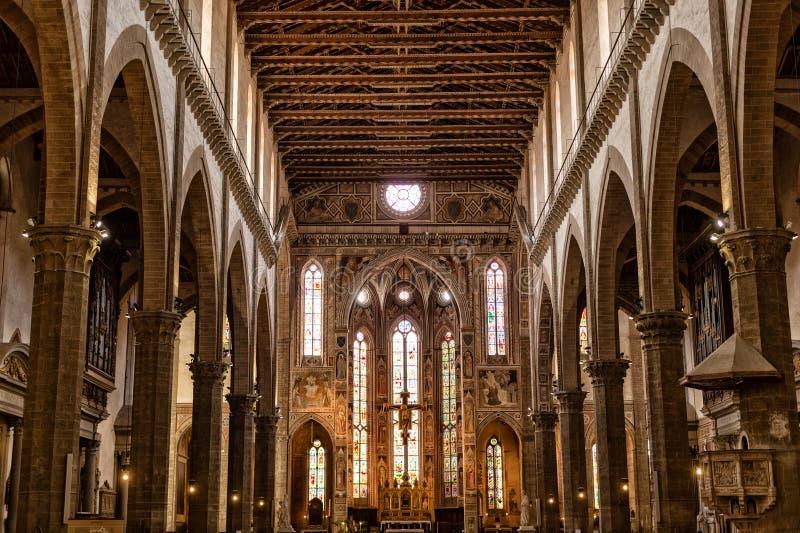 Innenansicht von Basilika-De Sante Croce stockbilder