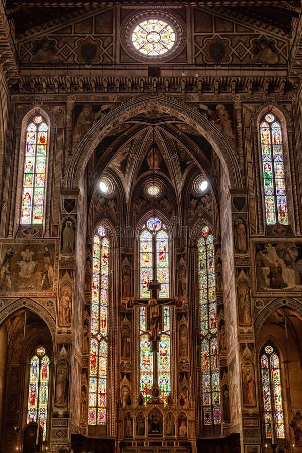 Innenansicht von Basilika-De Sante Croce stockfotografie