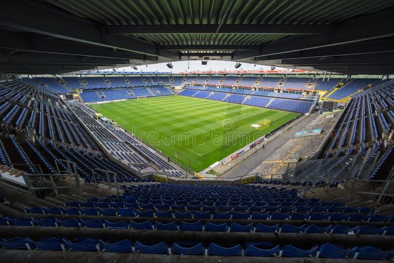 Innenansicht von Brondby-Arena lizenzfreie stockbilder