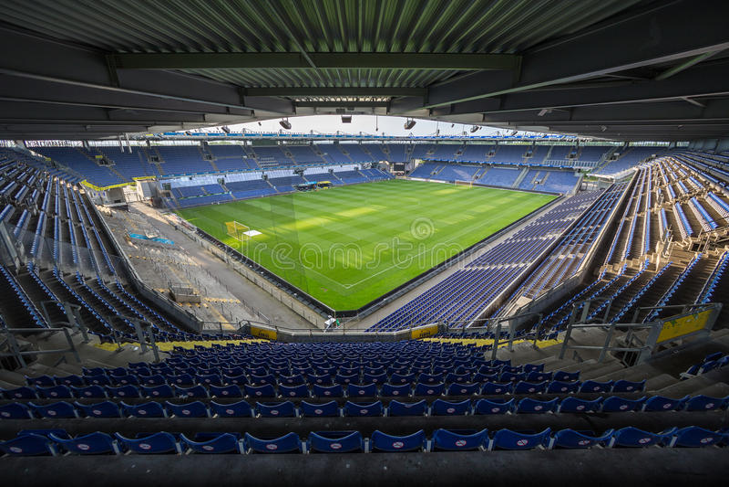 Innenansicht von Brondby-Arena stockbild