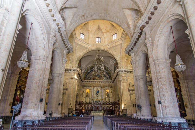 Innenansicht von Havana Cathedral lizenzfreie stockbilder