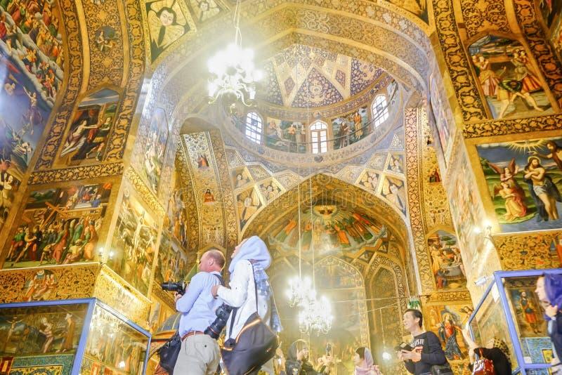 Innenansicht von Vank Armenische heilige Retterkathedrale lizenzfreie stockfotografie