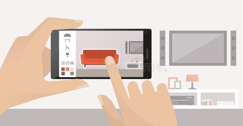 Innenarchitektur App innenarchitektur app vektor abbildung bild bildschirmanzeige