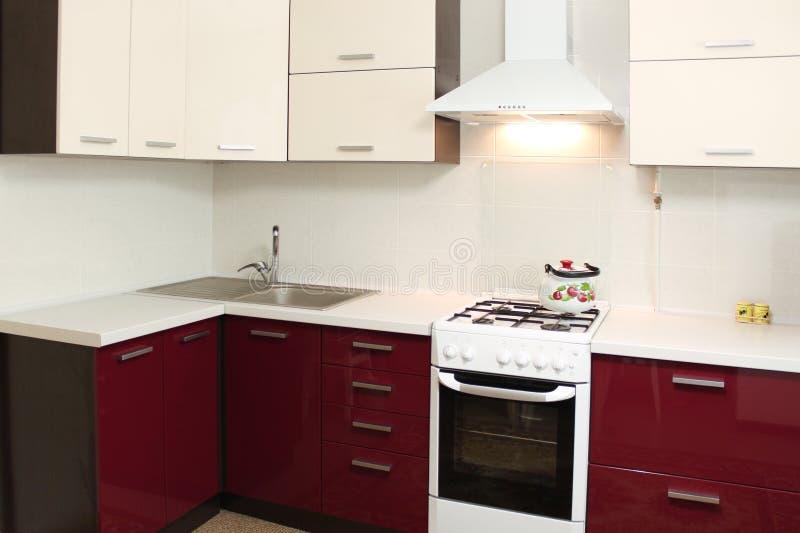 Innenarchitektur Der Inländischen Küche Stockfotografie