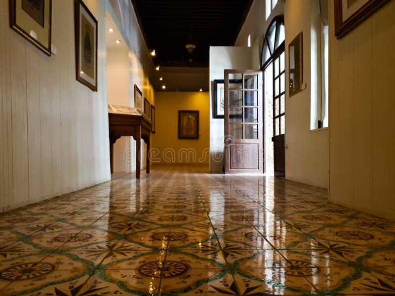 Innenarchitektur von casbah Palast stockbilder