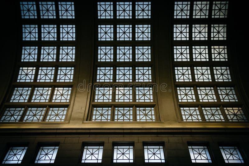 Innenarchitekturdetails in der Verbands-Station, in Washington, stockbilder
